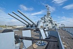 USS Alabama at Battleship Memorial Park in Mobile on Alabama Gulf Coast.