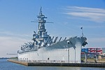 USS Alabama at Battleship Memorial Park at Mobile on Alabama Gulf Coast.