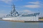 USS Alabama at Battleship Memorial Park at Mobile on Alabama Gulf Coast.