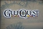 Sign for new Gulf Quest National Maritime Museum of the Gulf of Mexico in Mobile, Alabama.