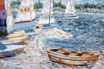 Biloxi Bay Bridge Mosaics detail by Elizabeth Veglia at Ocean Springs, Mississippi, on Gulf Coast.