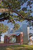 Ohr-O'Keefe Museum of Art, designed by Frank O. Gehry, under majestic oaks along Mississippi Sound on Gulf Coast at Biloxi.