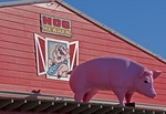 Hog Heaven restaurant sign at Biloxi on Mississippi Gulf Coast.