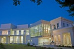 The Jefferson Davis Presidential Library along Mississippi Sound at Biloxi on Gulf Coast.