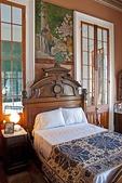 Bedroom in Beauvoir, The Jefferson Davis Home along Mississippi Sound at Biloxi on Gulf Coast.