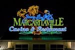 Neon sign for Jimmy Buffett's Margaritaville Casino & Restaurant on the Mississippi Gulf Coast at Biloxi.