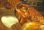 Hangzhou's golden Sakyamuni Buddha in Lingyin Temple's (Temple of the Soul's Retreat) Grand Mahavira Hall