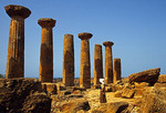 Ruins of Greek Temple Of Hercules at Agrigento in Valley of the Temples