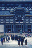 Todaiji Buddhist Temple's Great Buddha Hall in Nara built in 743.