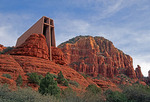 Chapel of the Holy Cross on the red rocks near Sedona, Arizona.
