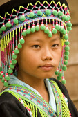 Hmong ethnic minority girl in Ban Na Ouane village near Luang Prabang, Laos.