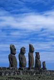 Ahu Tahai moai on Rapa Nui (Easter Island).