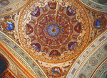 Dolmabahce Palace ceiling detail, Istanbul.