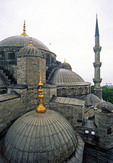 Blue Mosque (Sultanahmet) dome tops, Istanbul, Turkey.