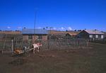 Farm houses on Hulun Buyr grasslands in Inner Mongolia Autonomous Region, China.