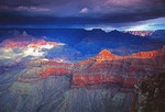 Grand Canyon view from Yavapai Point on South Rim in winter.