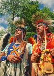 Ottawa dancers at Saginaw Chippewa Tribal National Pow Wow on reservation near Mount Pleasant, Michigan.