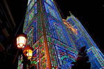 Las Fallas Festival lighting display.