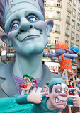 Las Fallas Festival satirical effigy falla of surgeon and Frankenstein monster.