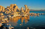 Mono Lake tufa tower formations at dawn, Lee Vining, California.