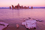 Mono Lake tufa formations at dusk, Lee Vining, California