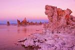 Mono Lake tufa tower formations at dusk, Lee Vining, California.