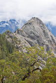Sequoia National Park's Moro Rock granite dome formation.