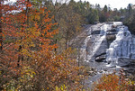 High Falls in DuPont State Forest in autumn, North Carolina.