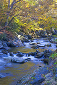 Little River in autumn in Great Smoky Mountains National Park.