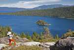 South Lake Tahoe's Emerald Bay State Park with iPad photographer, California