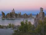 Mono Lake at dusk.