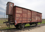 Box Car at Birkenau concentration camp.