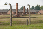 Birkenau concentration camp at Auschwitz-Birkenau Memorial State Museum.