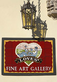 Sign for Love's Fine Art Gallery in St. Augustine, Florida