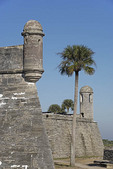 Castillo de San Marcos, Spanish built fortress in St. Augustine, Florida.