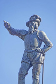 Statue of Juan Ponce de Leon in St. Augustine, Florida.