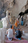 Pak Ou Buddhist Caves on Mekong River north of Luang Prabang are filled with images of Buddha.