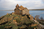 Hayravank Monastery on shore of Lake Sevan in Armenia.