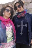 Fashionable young women in Dilijan, Armenia.