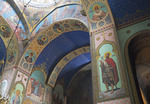 Frescoes in Sioni Cathedral of the Dormition, Georgian Orthodox church in Tbilisi.