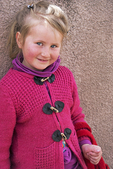 Young freckle-faced girl in Dilijan, Armenia.