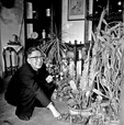 Writer Lao She in his Beijing home in 1964.
