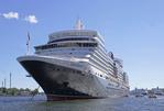 Cunard Line cruise ship Queen Elizabeth in Stockholm harbor.