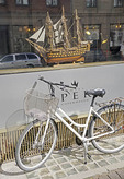Bicycle at Hotel Opera in Copenhagen, Denmark.