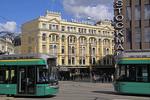 Landmark 1898 Tallberg Building in downtown Helsinki next To Stockman Department Store.