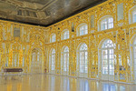 Ballroom in Catherine's Palace at Pushkin in St. Petersburg, Russia.