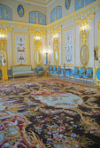 Blue room in Catheriine's Palace at Pushkin in St. Petersburg, Russia.