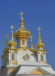 Peterhof Grand Palace Church steeple in St. Petersburg, Russia.