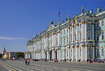 State Hermitage Museum's Winter Palace in St. Petersburg, Russia.