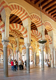 Mezquita Great Mosque interior arches in Cordoba, Spain.